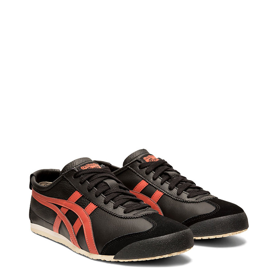 onitsuka tiger mexico 66 black burnt red red